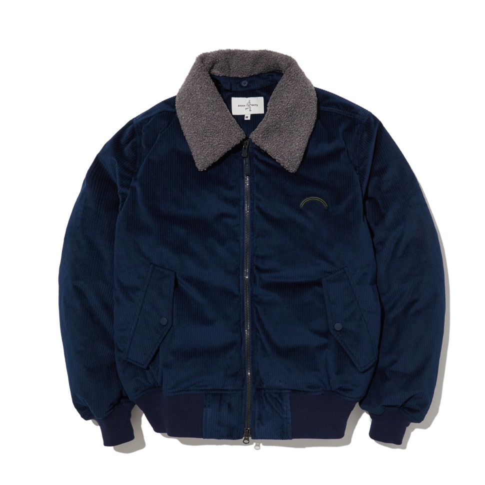 [20FW] CORDUROY BOMBER DOWN JACKET_NAVY