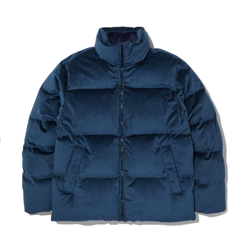 [20FW] CORDUROY HIGH NECK DOWN JACKET_BLUE