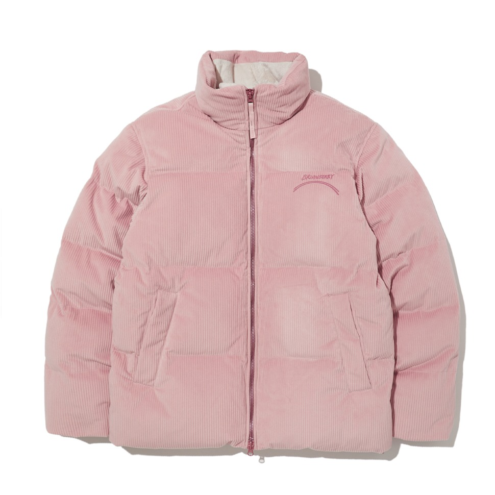 [20FW] CORDUROY HIGH NECK DOWN JACKET_PINK