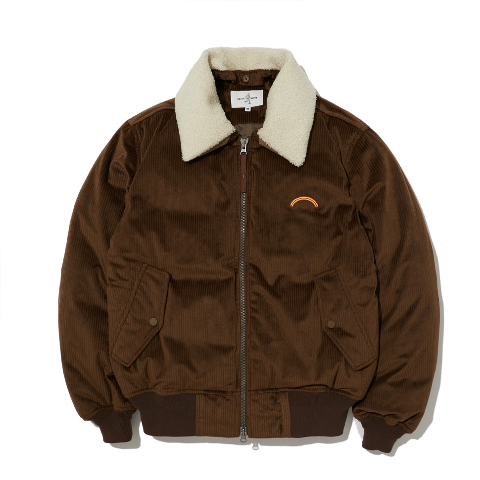 [20FW] CORDUROY BOMBER DOWN JACKET_BROWN